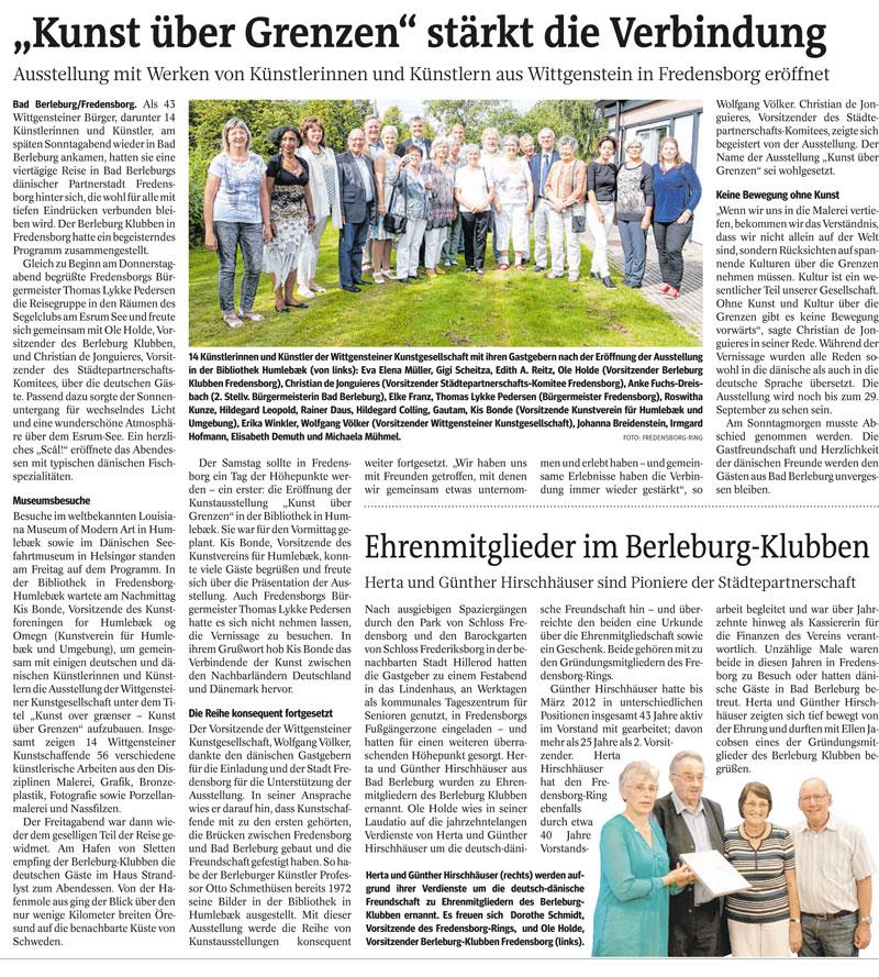 Artikel aus der WAZ vom 6. August 2016